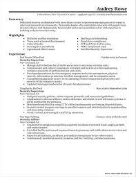 Sample Resume For Security Guard Supervisor Resume Resume