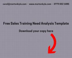 Sales Training Template Free Sales Training Needs Analysis Free Download To Drive
