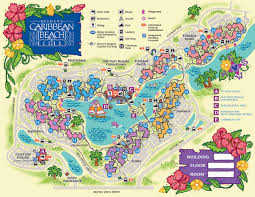disney's caribbean beach resort map  wdwinfocom