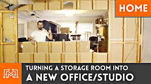 Storage room to OfficeStudio Conversion Home Renovation YouTube