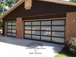 full view garage doorFull view garage door with black anodized frame  Denver Garage
