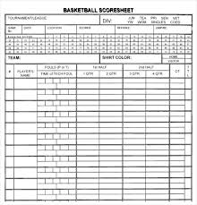 Basketball Score Sheets Free Printable Basketball Score Sheet Template Opusv Co