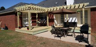 Repairing a Wood Deck and Building a Pergola Shade Arbor Todays