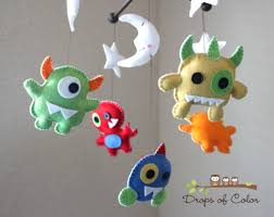 reserved  baby mobile  baby crib mobile  nursery monsters