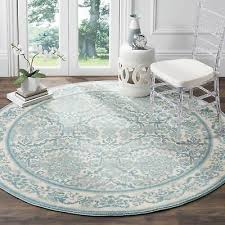 safavieh evoke vintage oriental ivory light blue distressed rug 6 7 round