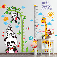 Wallpaper Measuring Chart Us 6 56 Childrens Room Classroom Wall Decoration Bedroom Room Measuring Height Stickers Self Adhesive Wallpaper Wallpaper Wall Stickers In Wall
