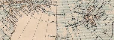 Polar Routes Charts North Polar Chart Shows Explorers Routes Nansen 1895