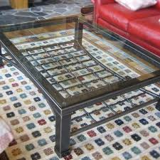 custom made iron glass coffee table by desiron custom metal custommade com
