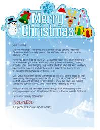 Printable Santa Letter Merry Christmas Banner Design