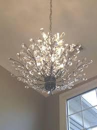 crystal branch chandelier aspen light chrome finish