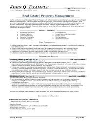 real estate resume entry level real estate resume sample John Q. Example