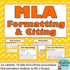 teaching mla format mla format and citation 8th edition powerpoint presentation hire
