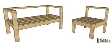 diy outdoor furniture plans. Build Your Own Outdoor Seating From 2x4\u0027s With These Free And Easy Plans On Hertoolbelt. Diy Furniture