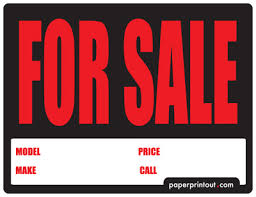 auto for sale sign car for sale sign template