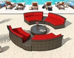 round sectional patio furniture patio furniture outdoor wicker round sectional sofa set bronze sectional patio furniture