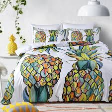 pineapple digital printing duvet cover sets bedding set queen king size bedding without comforter and pillows filling insert designer duvet cover sets