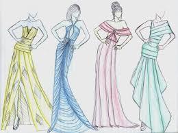 картинки для срисовки платья лёгкие и красивые рисунки карандашом