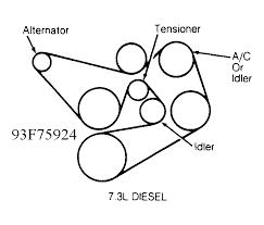 diagram for serpentine belt ford f350 deisel truck