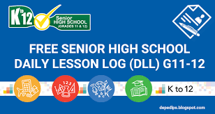daily lesson log format new daily lesson log dll senior high school free deped lps