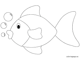 Rainbow Fish Coloring Page Color Pages Fish Fish Pictures For