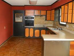 ugly two toned painted kitchen cabinets orange black sedalia missouri home house for