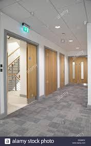 office door glass. Office Corridor Door Glass. Modern Showing Oak-finish Double Fire Doors Leading Glass