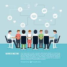 meeting free business meeting infographic vector free download