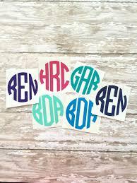 Southern Chic Designs Circle Monogram Decal Circle Monogram Sticker Circle