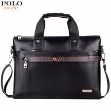 men business leather briefcase bag