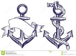 поставьте эскиз на якорь иллюстрации вектора установленного символа