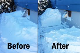 these shots ilrate an external furnace vent before and after it has been cleared of snow clearing such vents helps prevent carbon monoxide from