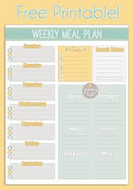 weekly menue planner free printable weekly meal planner calendar