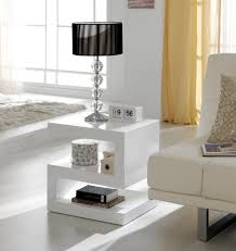 modern side or lamp z table in white high gloss view larger gallery z shaped lamp table