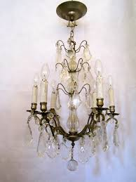 french crystal chandelier mid 1920 s
