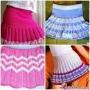 Схемы вязания юбок в складку спицами для девочки