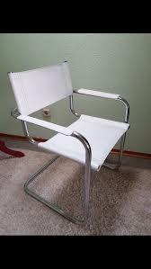 Freischwinger Stuhl Weiß Leder