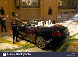 A BMW used by artist Robin Rhodes to create a canvas with painted Stock  Photo - Alamy