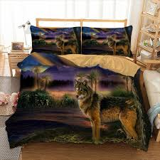 wolf bedding set twin full queen king uk double au single size 3d bed linen set