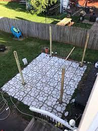 how to make a diy patio with walkmaker mold diy concrete patio diy patio pavers diy