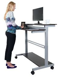 stand up computer desk staples china height adjule sit 12
