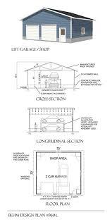 2 Car Garage Designs Amazon Com Garage Plans Oversized Two Car Garage High