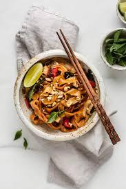 easy thai drunken noodles pad kee mao