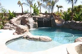 backyard pool with slides. Pools Concrete Pool Steps Inground With Rock Slide Backyard Slides O