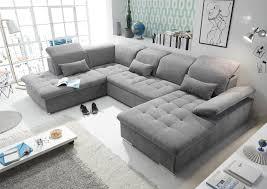 Details Zu Couch Wayne L Sofa Schlafcouch Wohnlandschaft Schlaffunktion Dunkelgrau U Form
