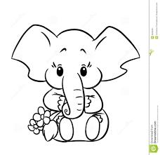 Little Baby Elephant Colouring Page Nursery Ideas Elephant