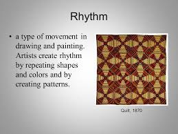 rhythm a type of movement in drawing and painting