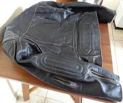 a photograph showing the rear of the iguana custom old style jacket and how the thick