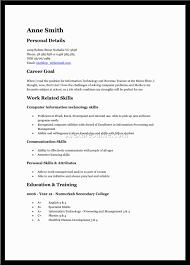 Job Resume Teenager First Job