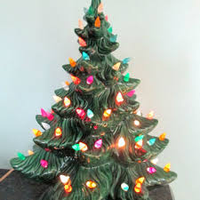 Vintage Christmas Tree With Lights I Have One Of These My Ceramic Christmas Tree Vintage