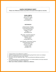 Resume Reference Page Relationship Sample References Template